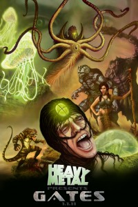 hal hefner, promo poster, gates the comic, heavy metal magazine, kevin eastman