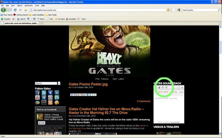 Hal Hefner First Official Song Released for Gates Soundtrack: Gates Theme By LoveKrafty