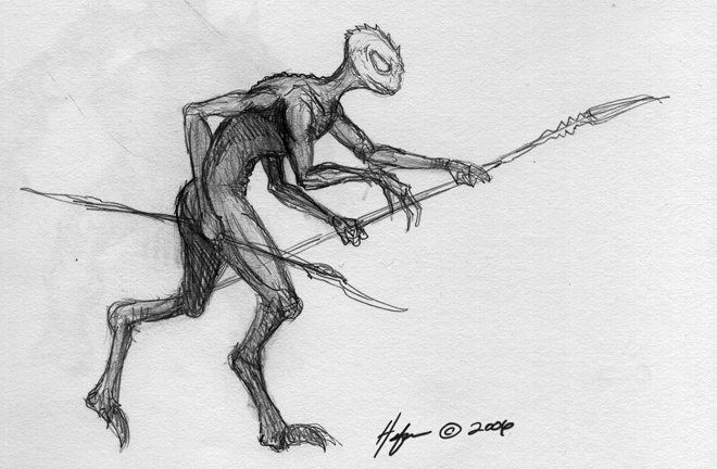 2009 10 21 09 LIZARD MAN 4arms More Concept Sketches For Gates: Heavy Metals First Online Comic