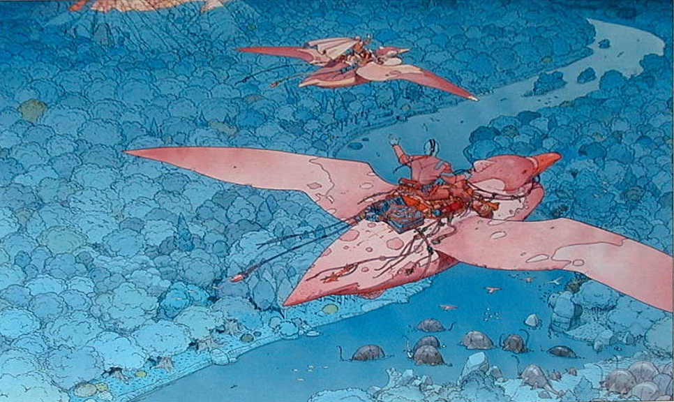 moebius1city of fire hal hefner gates the comic heavy metal Sci Fi Inspiration for Creators: Moebius   Arzak Rhapsody Animated Series