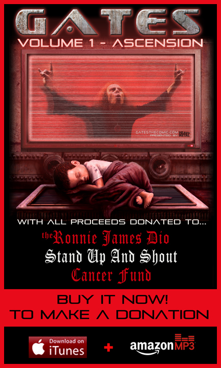 DIO stand up and shout cancer1 Official Soundtrack for Heavy Metal Presents: Gates, Vol. 1   The Ascension, Available Now