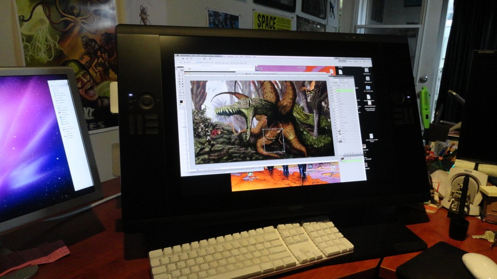 cintiq24HD hal Hefner 1024x576 A Review of the Cintiq 24HD Monitor by Comic Artist Hal Hefner