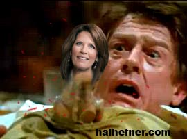 alien bursting from stomach hal hefner michele bachmann copy Michele Bachmann Alien Bursting From John Hurts Stomach