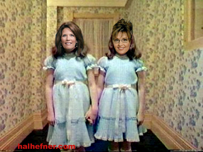 shining twins sarah palin michele bachmann small Palin & Bachmann in Stephen King and Stanley Kubricks The Shining?