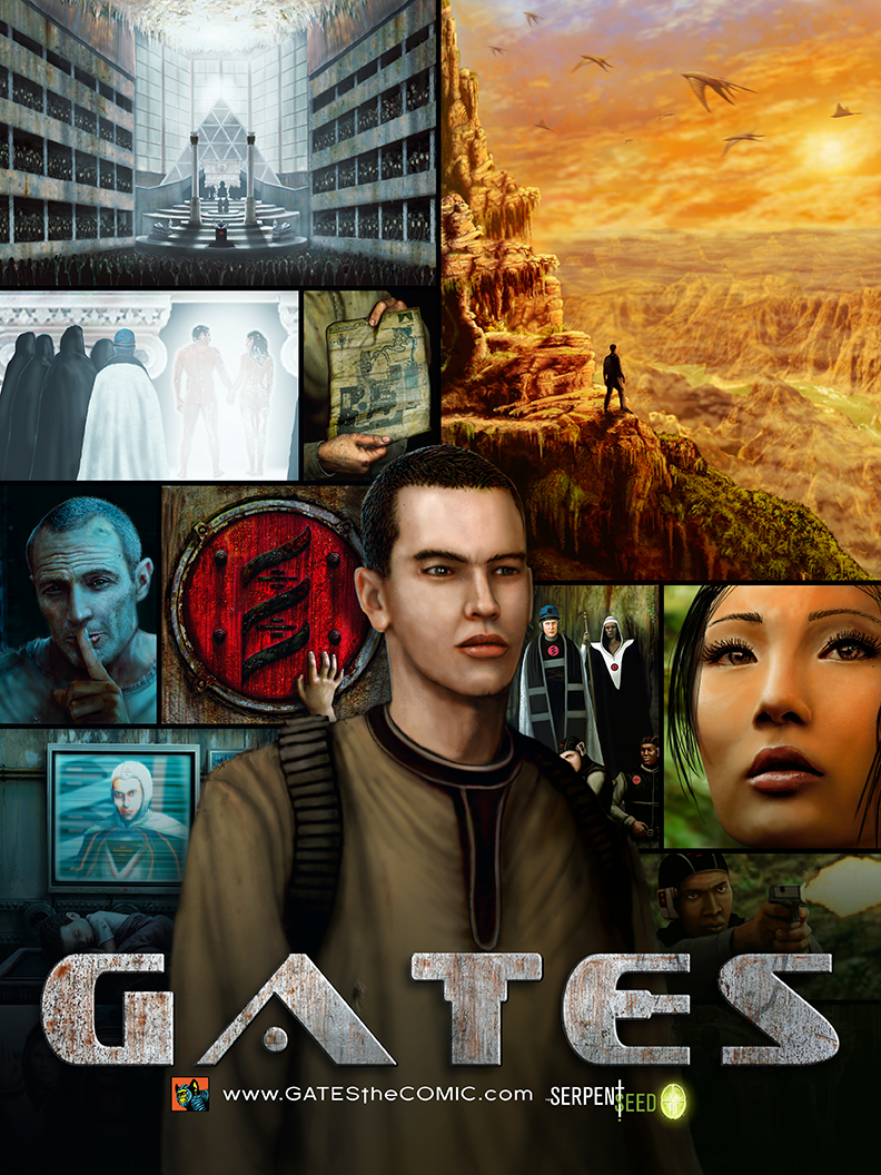 Gates the comic hal hefner 2013 POSTER GATES IS AVAILABLE IN TRADE PAPERBACK FOR THE FIRST TIME EVER